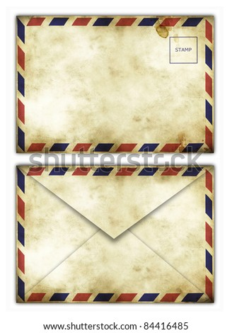 Vintage envelope pattern for your letter isolated on white