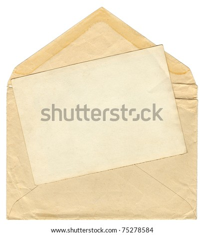 Vintage envelope with blank photo frame
