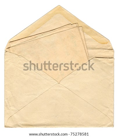 Vintage envelope with old letter