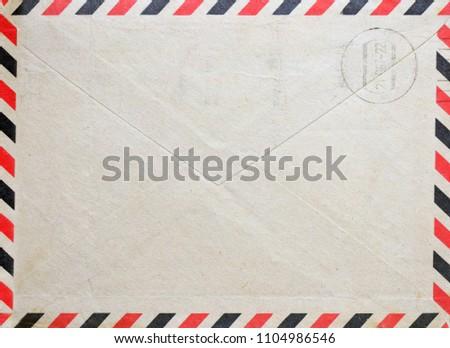 Vintage envelope with postal stamp Foto stock ©