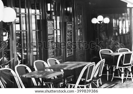 vintage european restaurant ...