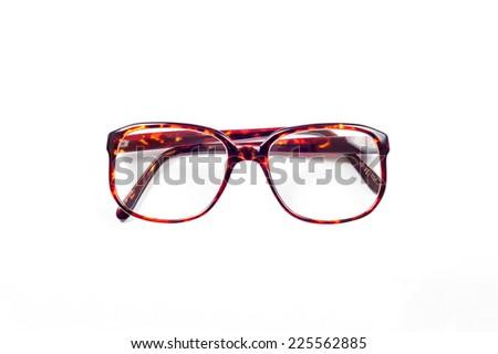 c75d488514ed Vintage Eyeglasses with plastic frame isolated on white background ...