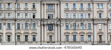 vintage facade classical...