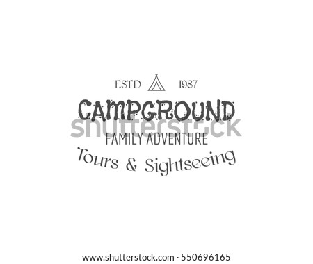 vintage family camping badge ...