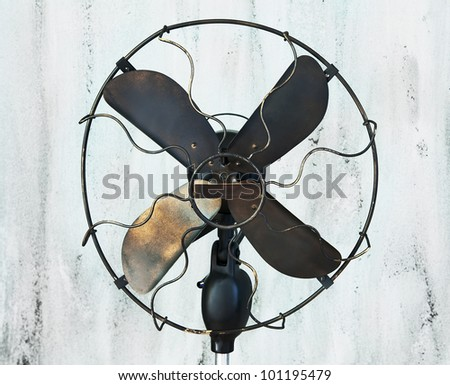 vintage fan in abstract background