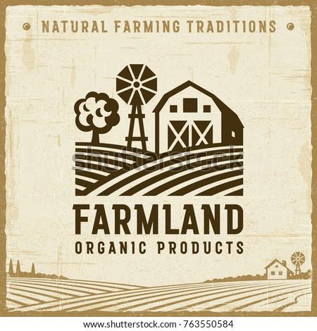 vintage farmland label