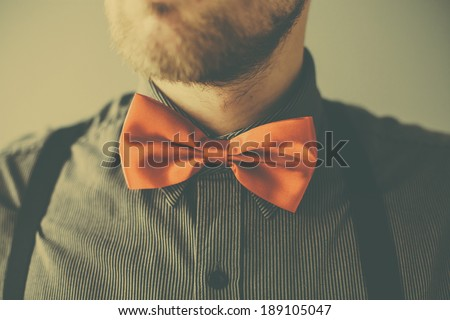 vintage fashion man with red...
