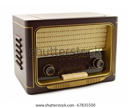 Vintage fashioned radio isolated
