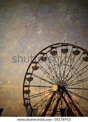 vintage ferris wheel at the...