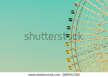 vintage ferris wheel in the...