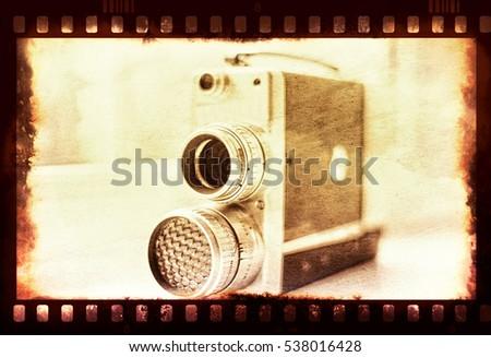 vintage film camera. old film...