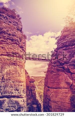 vintage filtered steel bridge...