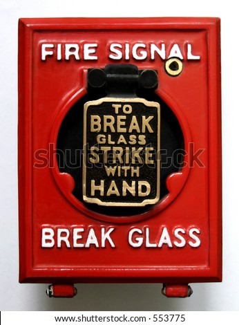 Vintage fire alarm panic button