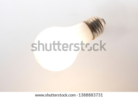 Vintage fired floodlight on white background.