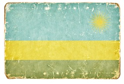 Vintage Flag of Rwanda.
