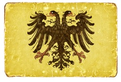 Vintage Flag of the Holy Roman Empire.