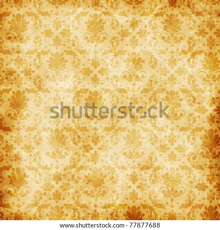 vintage floral  background with decorative flowers for design