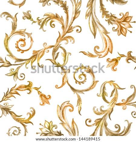vintage floral pattern ...