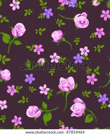 vintage flower seamless