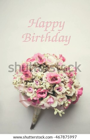 free photos vintage flowers and card happy birthday holiday