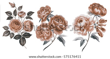 Vector Images Illustrations And Cliparts Vintage Flowers Vintage