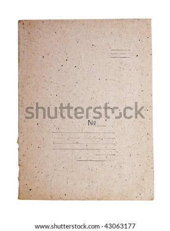 vintage folder for paperwork isolated