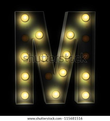 vintage font sign light