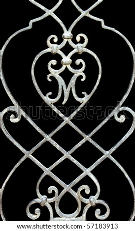 Vintage forged ornament made of steel