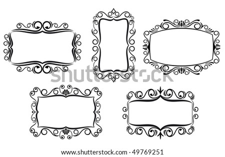 Vintage frame in Victorian style for ornate and design. Vector version also available in gallery
