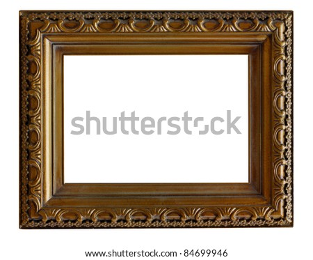 vintage frame isolated on white