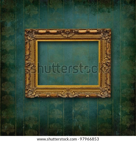Vintage frame on faded grunge stylized texture