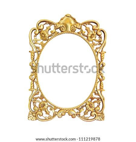 Vintage frame on isolated on white background