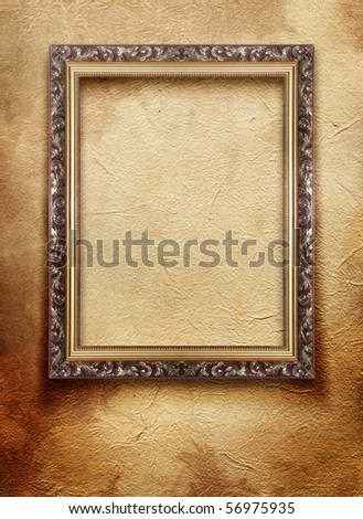 vintage frame on old grunge wall