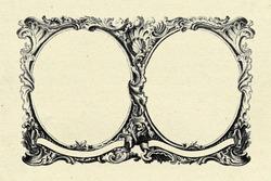 vintage frame on old paper texture background