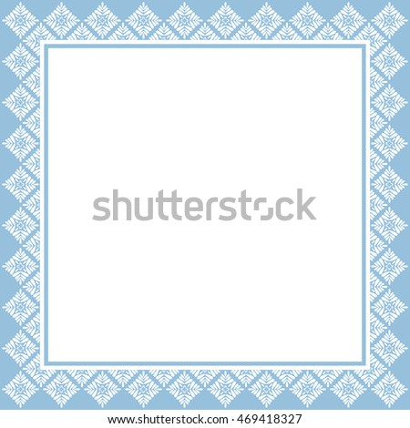 Vintage frame template in blue tones. #469418327