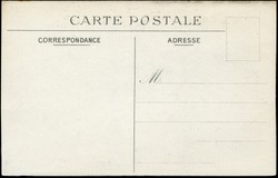 Vintage French postcard in early 1900s, a very good background for any usage of the historic postcard communications.  Letters on the card means: Postcard, correspondence and address.