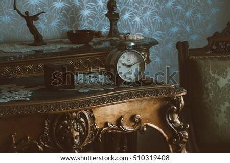 vintage furniture with metal...