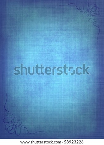 Vintage Gallery: Blue old paper background with scratches and decorative elements