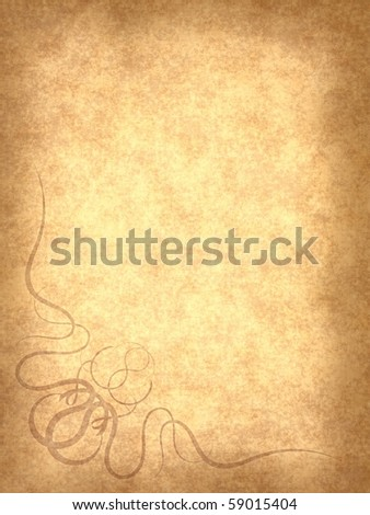Vintage Gallery: Old paper background with scratches and decorative element