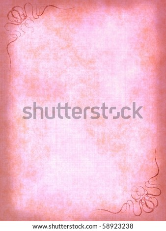 Vintage Gallery: Old paper background with scratches and decorative elements