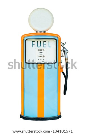 Vintage Gas dispenser isolated on white background. all logos removed