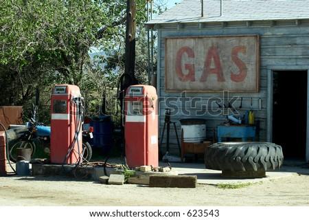 Estação De Gás Do Vintage