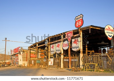 Vintage gas station memorabilia