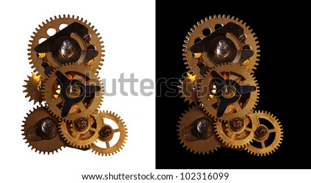 vintage gear with rotating gears