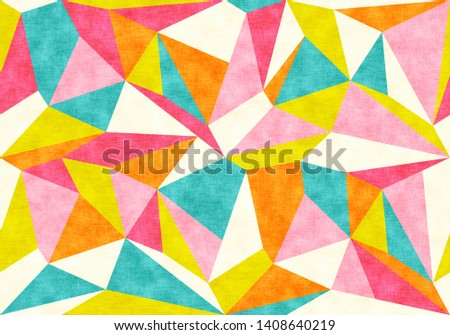 Vintage geometric polygon pattern. Retro vector pattern with colorful polygons.
