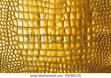 Vintage Gold crocodile skin texture.