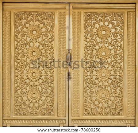 vintage gold door
