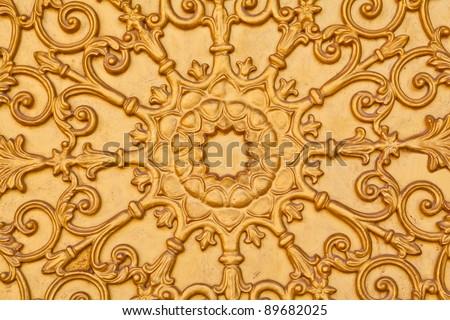 vintage gold door decorated pattern