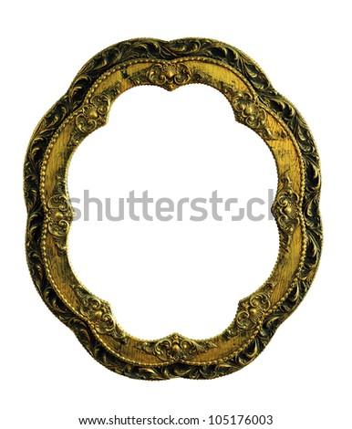 Vintage Oval Frame Wood Vintage gold picture oval