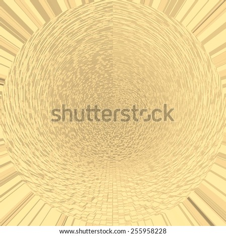 Vintage golden abstract background with mosaic pattern. Abstract modern background with mosaic geometric abstract pattern. Abstract grunge golden background, perspective background, gradient texture.